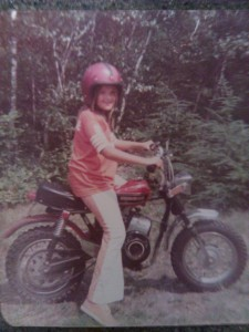 Steph and her Rupp minibike 1973.