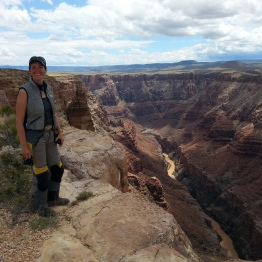 Shal looking over the Little Colorado River on Navajo Reservation