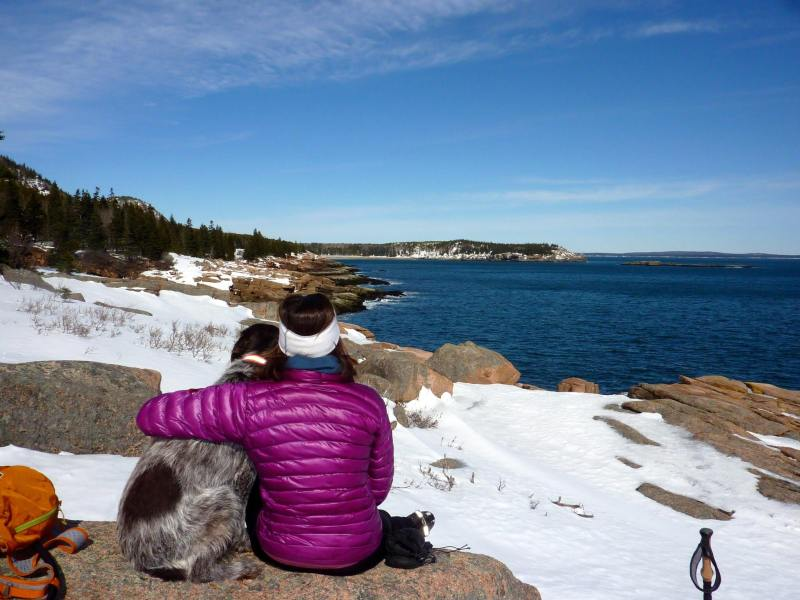 Brisa in Maine, winter 2015.